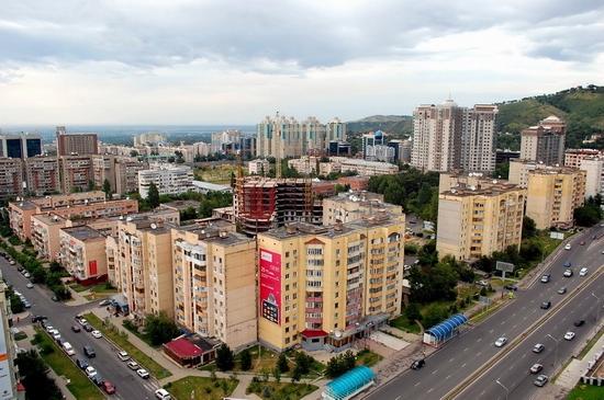 Almaty, Kazakhstan bird's eye view 4