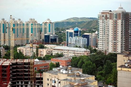 Almaty, Kazakhstan bird's eye view 7