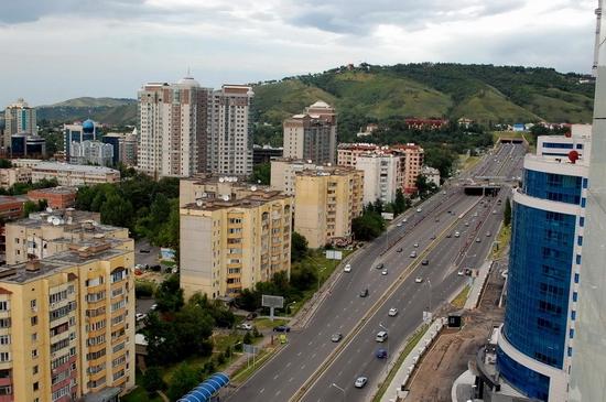 Almaty, Kazakhstan bird's eye view 8