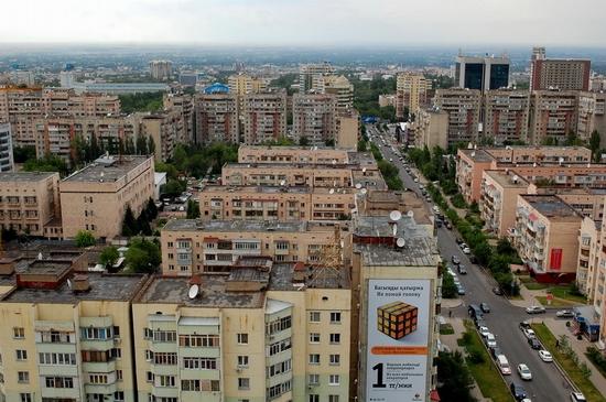 Almaty, Kazakhstan bird's eye view 9