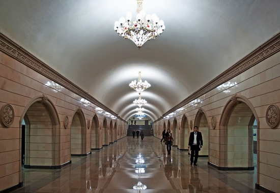 Almaty city, Kazakhstan subway view 1
