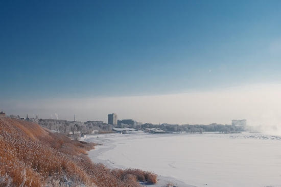 Frosty Pavlodar city, Kazakhstan view 10