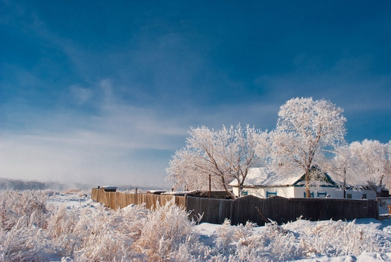 Frosty Pavlodar city, Kazakhstan view 2