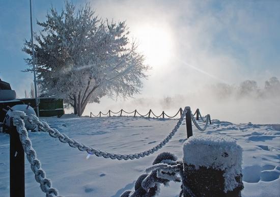 Frosty Pavlodar city, Kazakhstan view 8