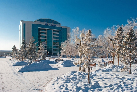 Frosty Pavlodar city, Kazakhstan view 9