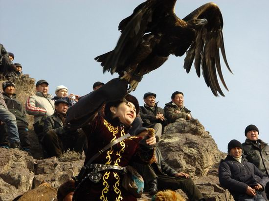 Kazakhstan - The hunt with tame hawks and falcons view 16