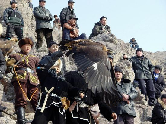 Kazakhstan - The hunt with tame hawks and falcons view 17