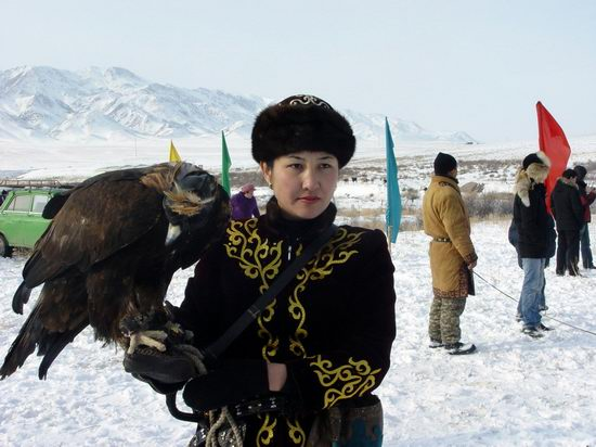 Kazakhstan - The hunt with tame hawks and falcons view 6