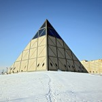 Mysterious pyramid of the Palace of Peace and Accord