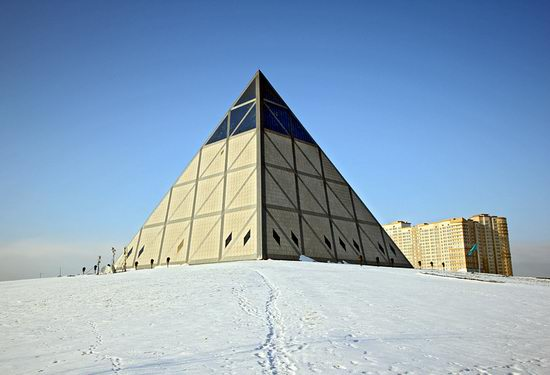 The Palace of Peace and Accord - the Pyramid in Astana, Kazakhstan view 1