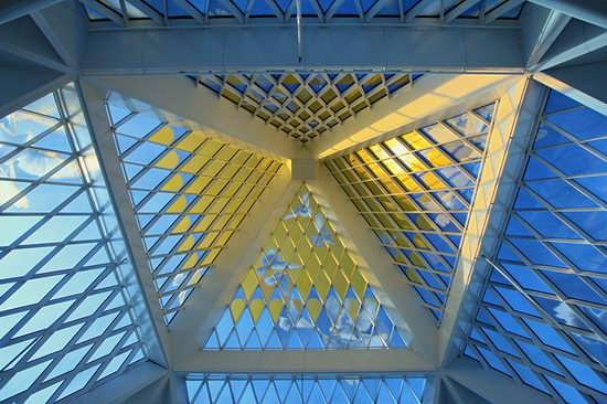 The Palace of Peace and Accord - the Pyramid in Astana, Kazakhstan view 13