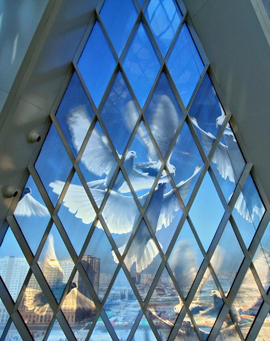 The Palace of Peace and Accord - the Pyramid in Astana, Kazakhstan view 14