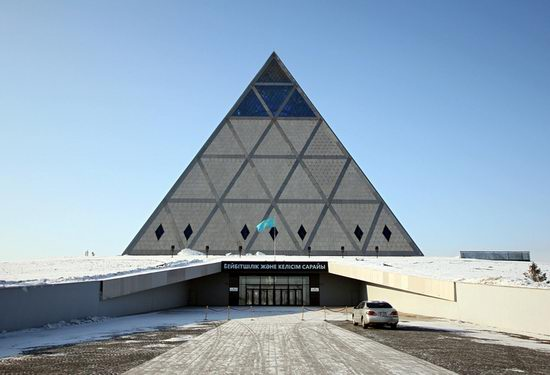 The Palace of Peace and Accord - the Pyramid in Astana, Kazakhstan view 2