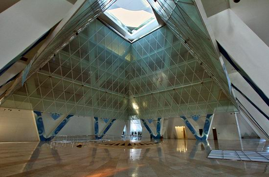 The Palace of Peace and Accord - the Pyramid in Astana, Kazakhstan view 8