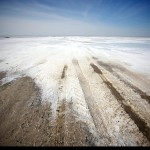 Production of salt in the Aral Sea area