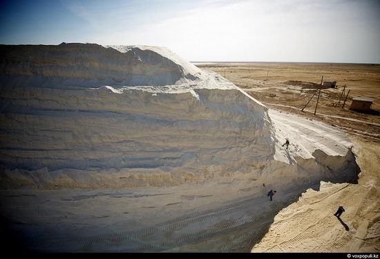 Salt production, the Aral Sea area, Kazakhstan view 10