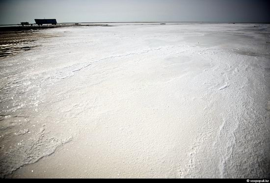 Salt production, the Aral Sea area, Kazakhstan view 2