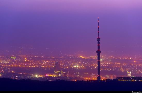 Almaty city, Kazakhstan night view 1