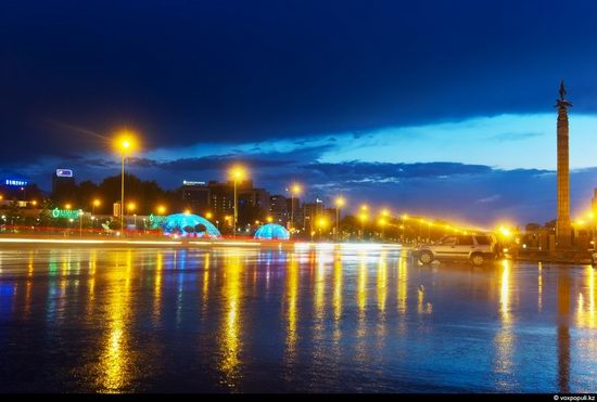 Almaty city, Kazakhstan night view 12