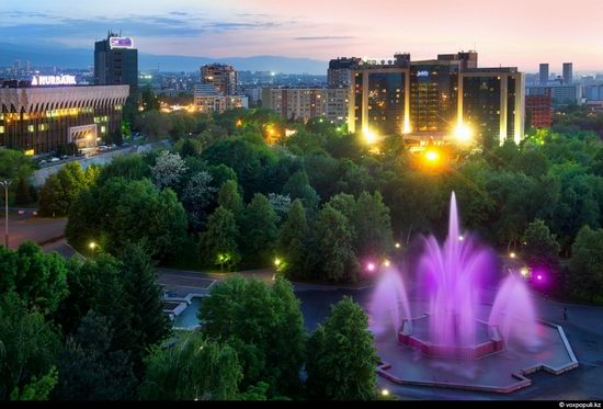 Almaty city, Kazakhstan night view 14