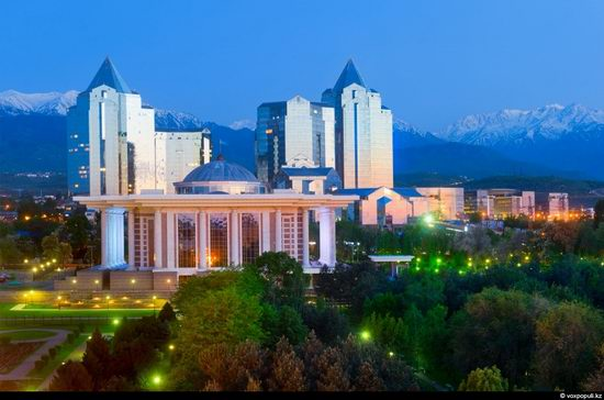 Almaty city, Kazakhstan night view 15