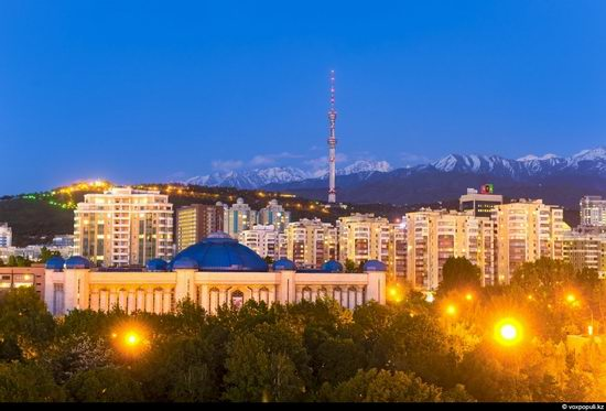 Almaty city, Kazakhstan night view 16