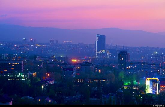 Almaty city, Kazakhstan night view 17