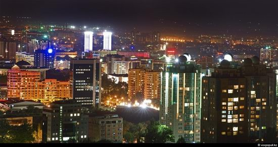 Almaty city, Kazakhstan night view 2