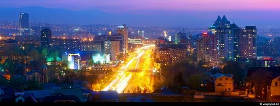 Almaty city, Kazakhstan night view 4