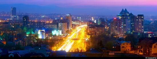 Almaty city, Kazakhstan night view 4