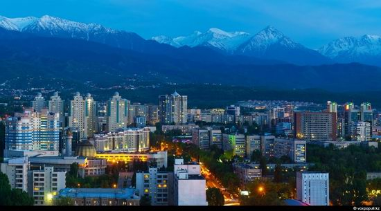 Almaty city, Kazakhstan night view 5