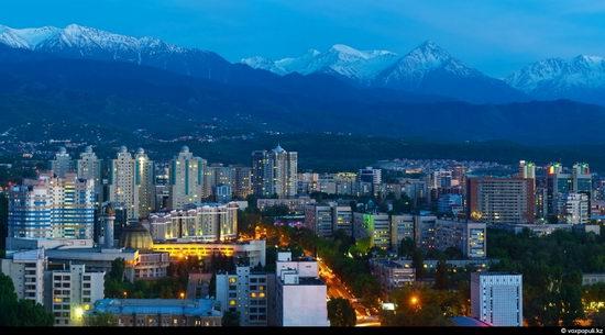 Almaty city, Kazakhstan night view 5