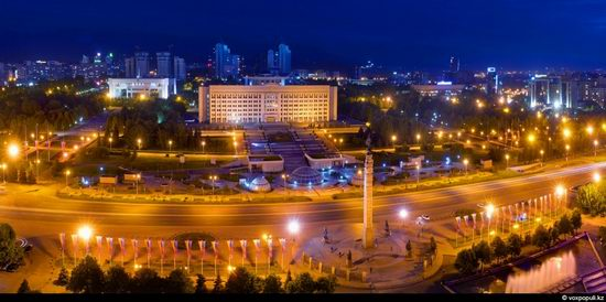 Almaty city, Kazakhstan night view 6