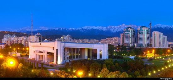 Almaty city, Kazakhstan night view 7