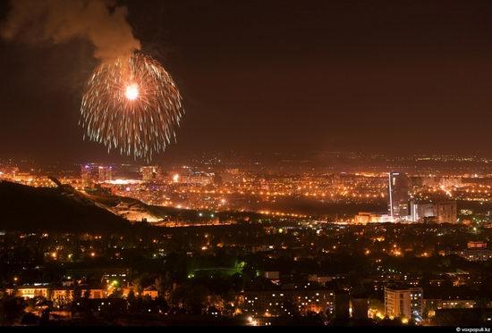 Almaty city, Kazakhstan night view 8