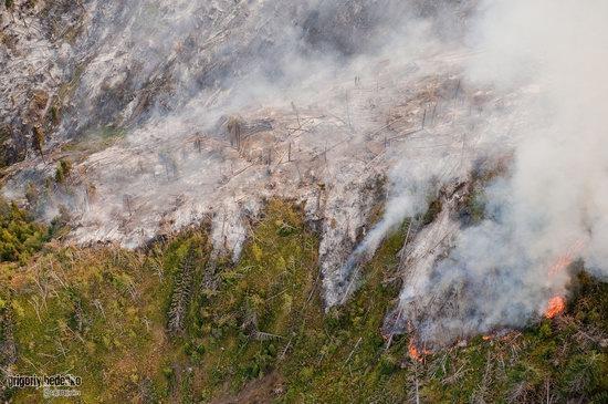 Large wildfire, Medeo, Almaty, Kazakhstan photo 11