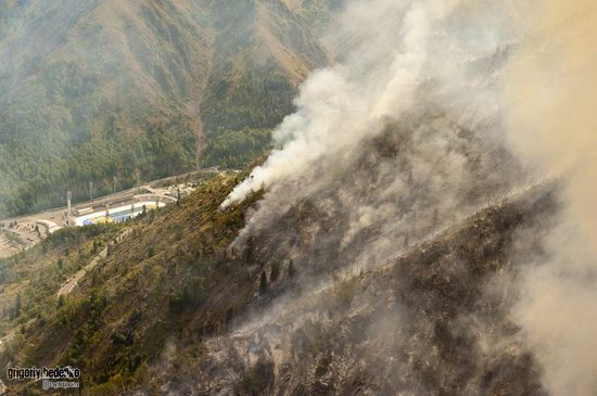 Large wildfire, Medeo, Almaty, Kazakhstan photo 13