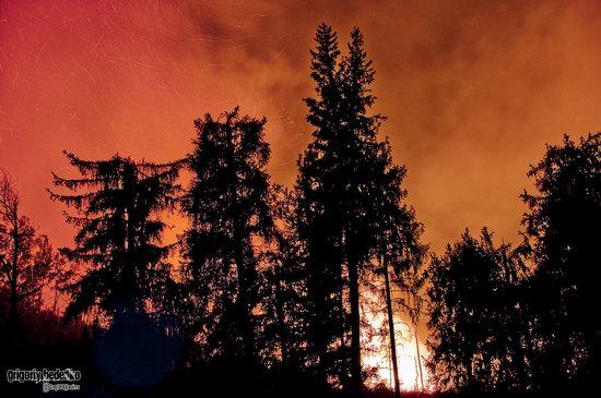 Large wildfire, Medeo, Almaty, Kazakhstan photo 4
