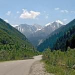 The Big Almaty Lake and surroundings