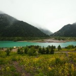 Alpine Lake Issyk near Almaty