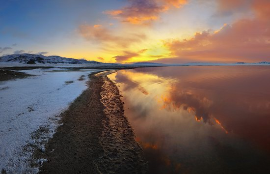 Tuzkol Lake - the Dead Sea of Kazakhstan
