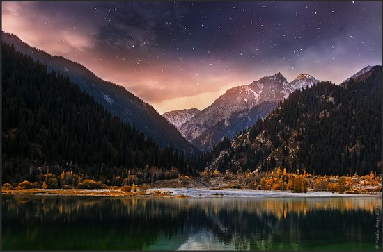 Moonlit Night on Lake Issyk, Kazakhstan