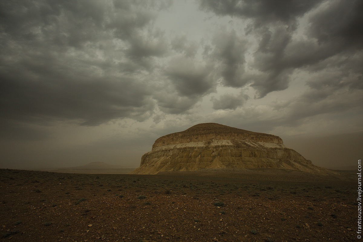 Alien landscapes around Mount Shergala · Kazakhstan travel ...