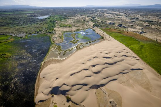 Aerial view of the Ili River, Kazakhstan, photo 1
