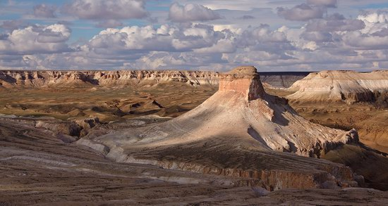 Unique landscape of the Ustyurt Plateau, Kazakhstan