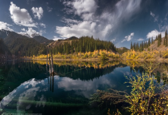 Lake Kaindy, Almaty region, Kazakhstan