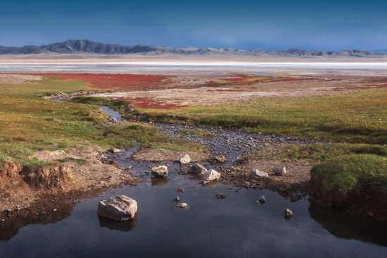 Lake Tuzkol landscape, Kazakhstan, photo 1