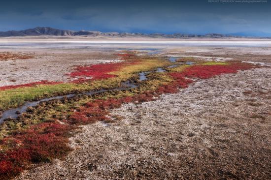Lake Tuzkol landscape, Kazakhstan, photo 2