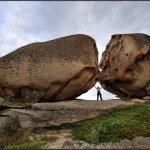 Giant boulders on the shores of Lake Dubygalinskoe