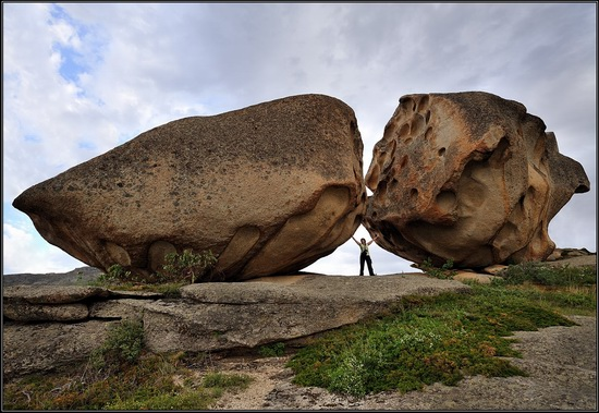 Giant rocks, Lake Okunki, East Kazakhstan, photo 1